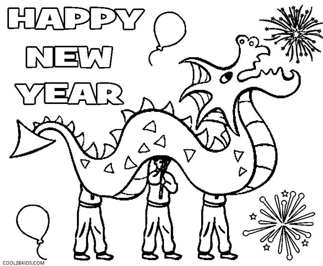 650x535 Chinese New Year Coloring Page