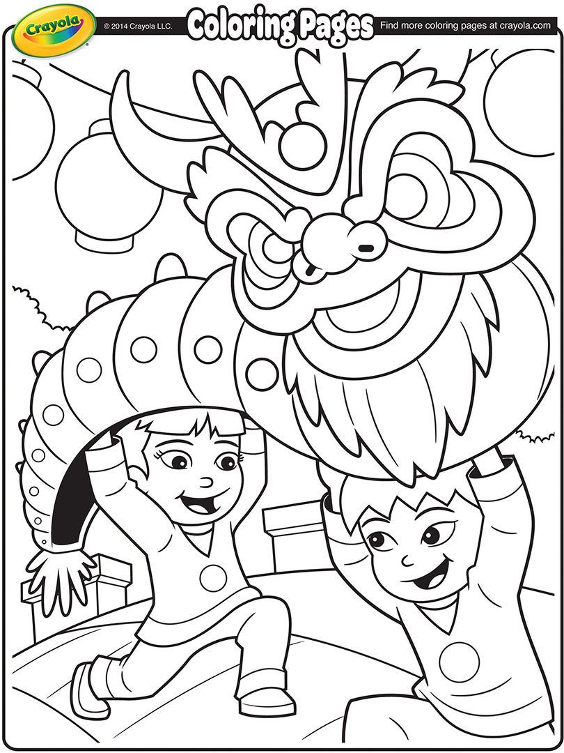 810x1080 Chinese New Year Dragon Coloring Page