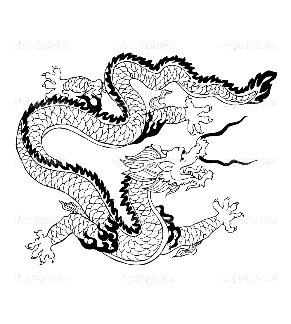 Chinese Drawing Dragon