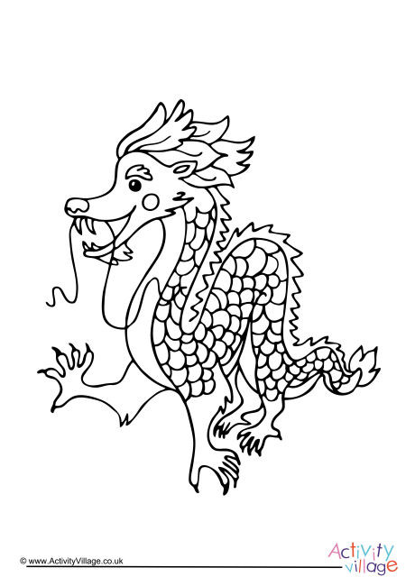 460x650 Chinese New Year Colouring Pages