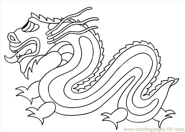 650x465 Perspective Chinese Dragon Coloring Pages Realistic Printable
