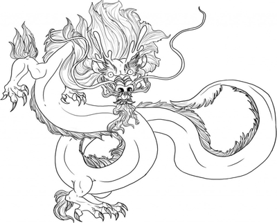 400x322 Chinese Dragon Coloring Sheet Real Pages