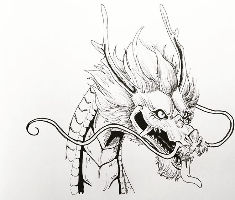 750x638 Chinese Dragon Drawing Tumblr