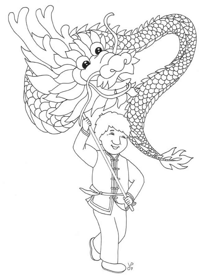 650x892 Chinese Dragon Pictures To Colour