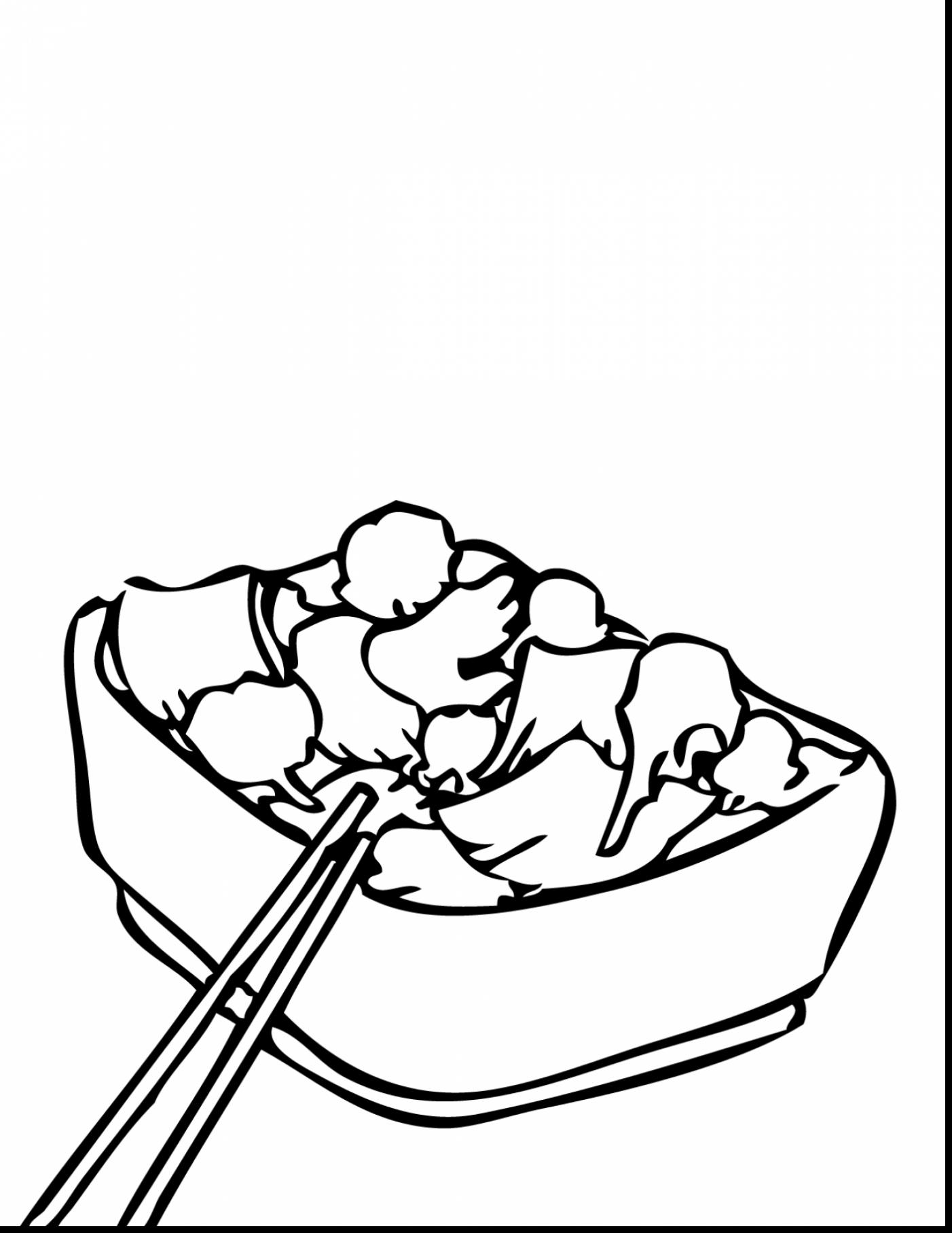 wok coloring pages sketch coloring page