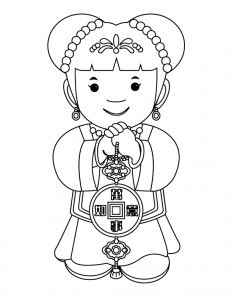 232x300 Chinese New Year Coloring Pages