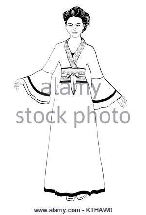 300x443 Vector Drawing Sketch Of Traditional Japanese House Stock Photo