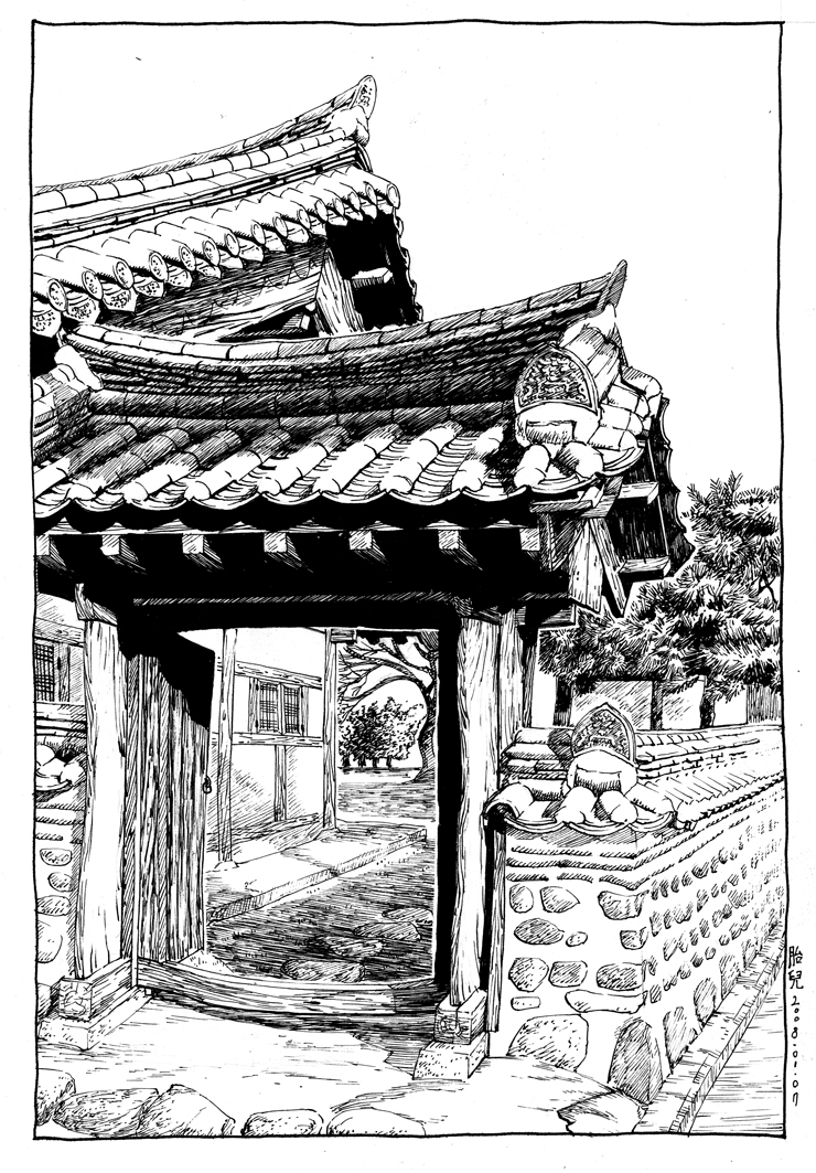 House Drawing Color: Chinese House Drawing At GetDrawings