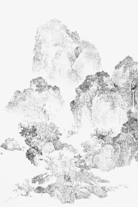 469x700 Chinese Landscape, Ink, Drop, Black Png Image For Free Download