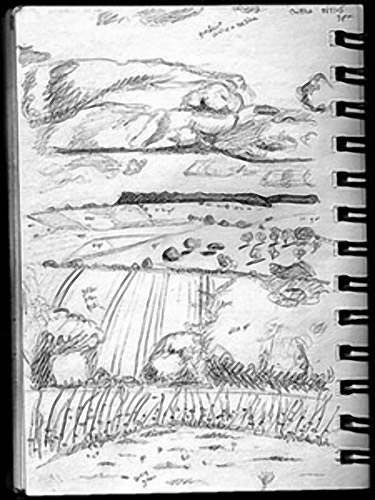 375x500 Gallery Landscape Sketch Paintings,