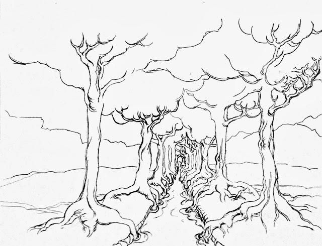 640x490 The Helpful Art Teacher Drawing Painting Trees Light