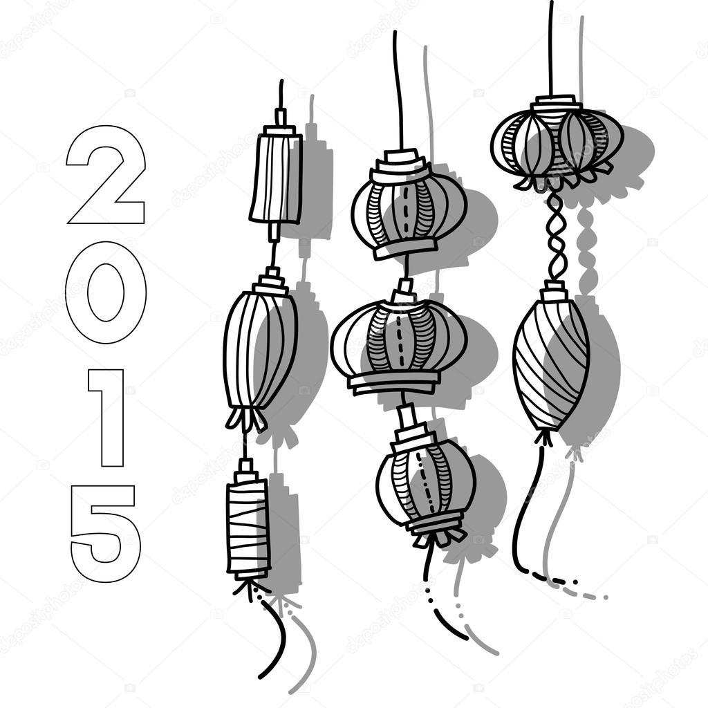 Chinese Lantern Drawing