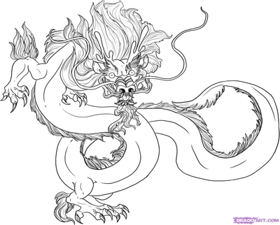 400x322 Chinese Dragon Head Coloring Page Image Clipart Images