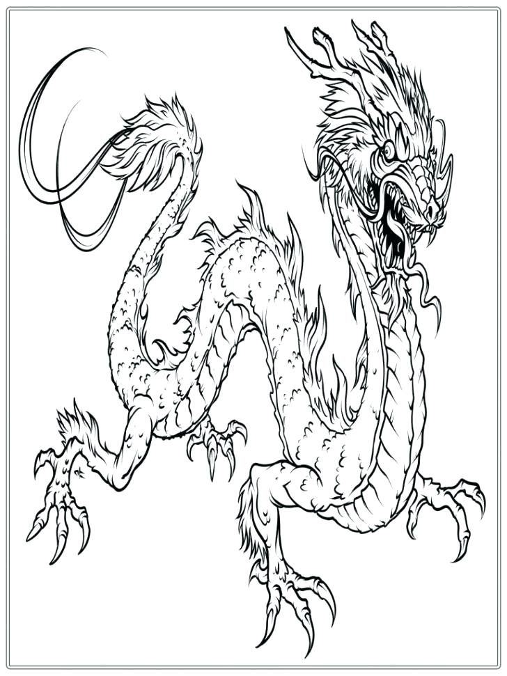 728x971 Dragon Head Coloring Page Dragons Chinese New