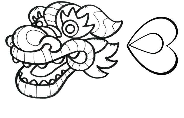 721x466 Dragon Head Coloring Page Dragon Head Coloring Page Chinese Dragon