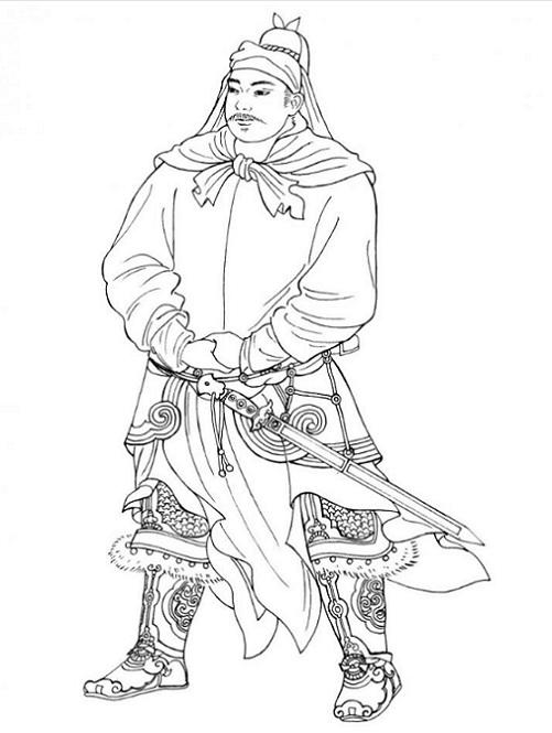 Chinese Man Drawing