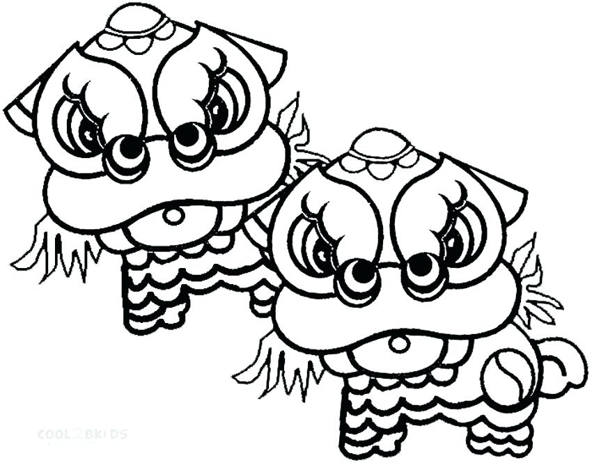 850x668 Chinese New Year Dragon Coloring Page Free Pages Of
