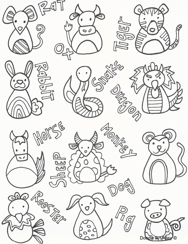 618x800 Chinese New Year Coloring Pages