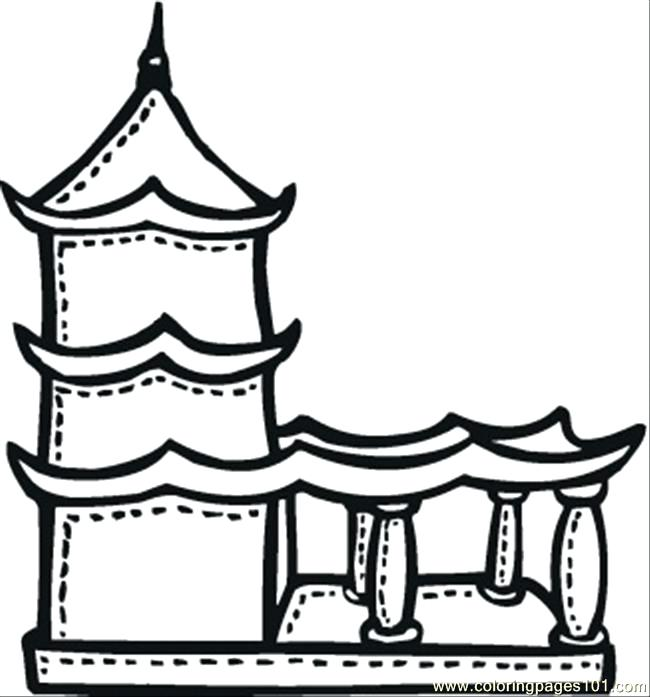 650x697 Fresh Temple Coloring Page For The Temple 87 Mayan Temple Coloring