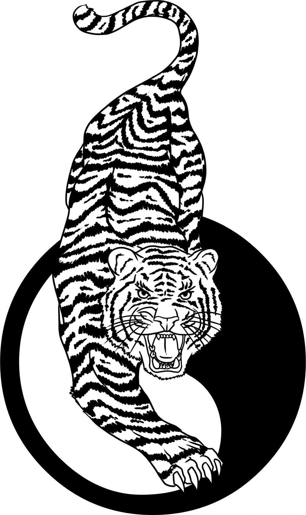 1020x1713 Line Drawings Of Yin Yang Chinese Tiger And Yin Yang Tattoo