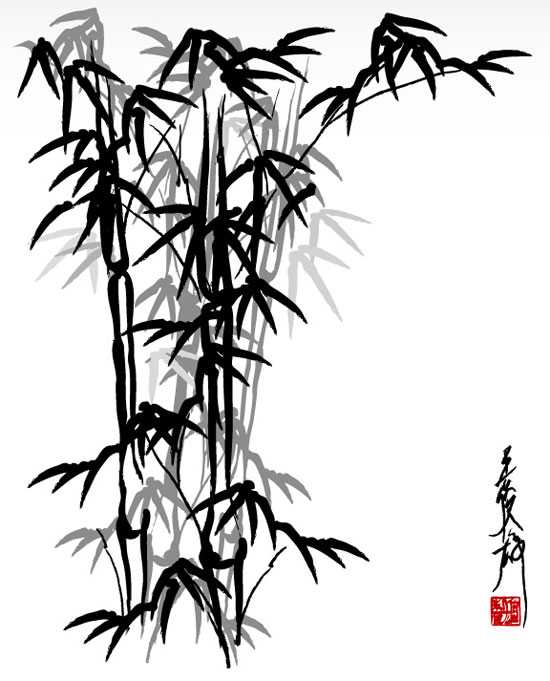 550x681 Chinese Bamboo Very Cool Drawings Chinese Bamboo