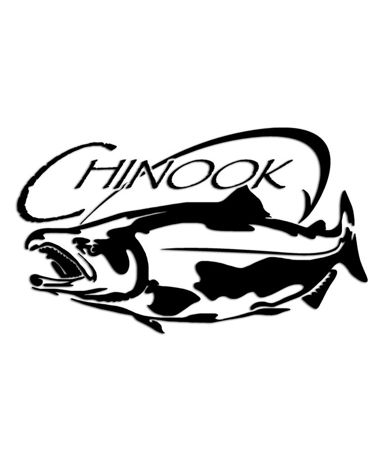 780x936 Chinook Salmon Sticker