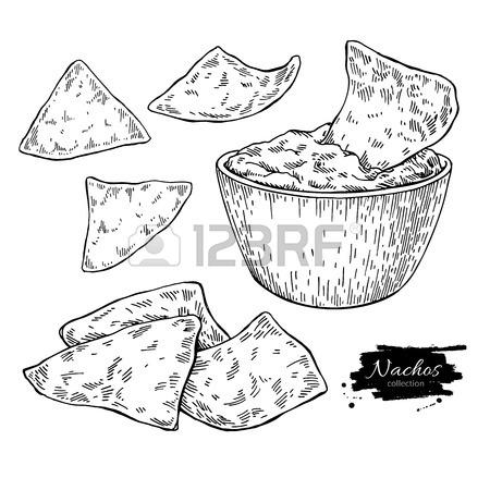 450x450 223 Nacho Chip Stock Vector Illustration And Royalty Free Nacho