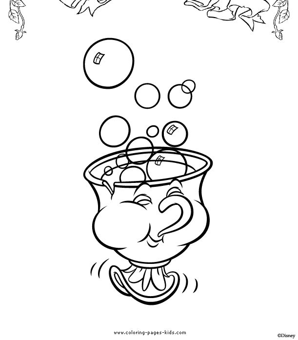 611x697 Image Result For Chip And Pots Colouring Pages Coloring Pages