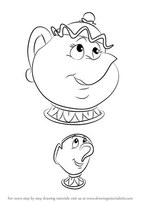 290x410 Learn How To Draw Chip Potts From Beauty The Beast (Beauty