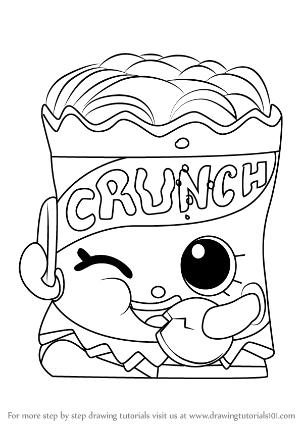600x846 Learn How To Draw Crispy Chip From Shopkins (Shopkins) Step By