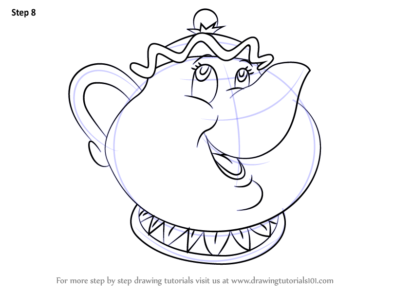 846x600 Learn How To Draw Mrs. Potts From Beauty The Beast (Beauty