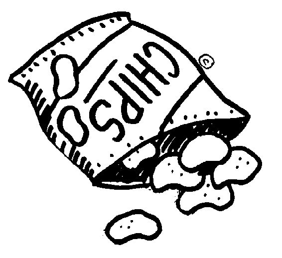 566x518 Potato Chips Coloring Pages