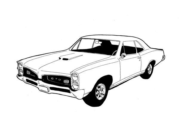 600x404 Russ Merritt Coloring Pages Car Prints, Car