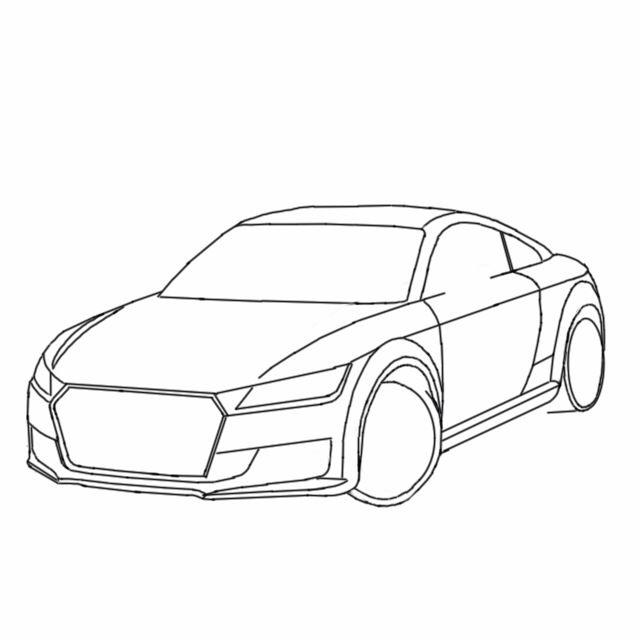 640x640 Finished Sketch Of The Audi Tt My Autodesk Sketchbook Designs