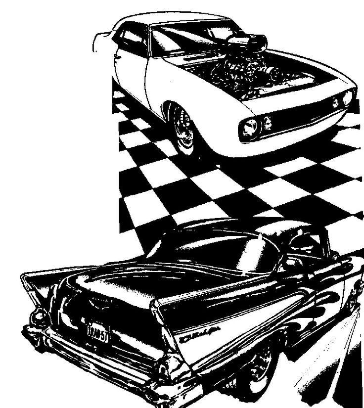 736x825 175 Best Hotrod Clip Art Images On Draw, Black And Car