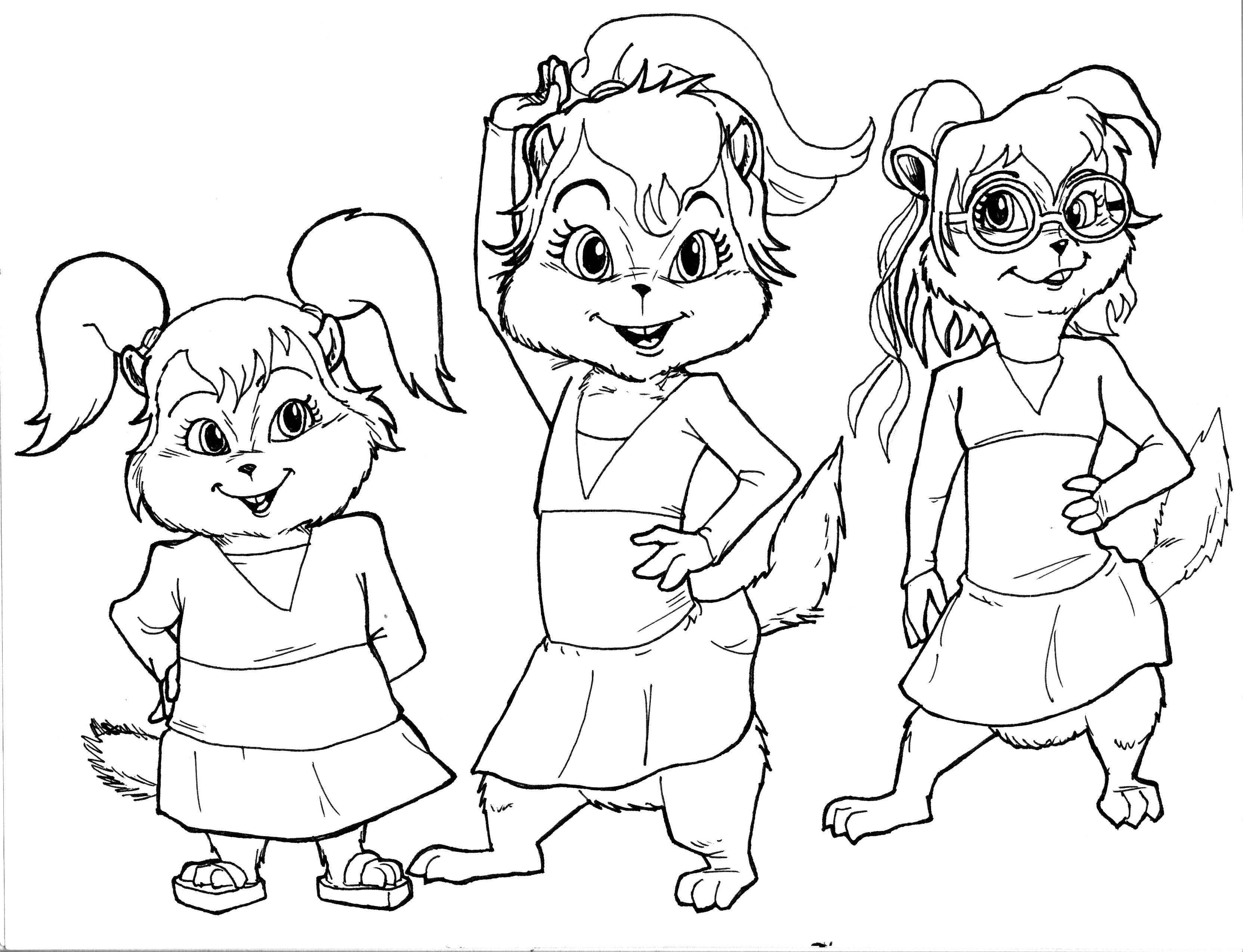 Chipmunks Drawing at GetDrawings.com | Free for personal use ...