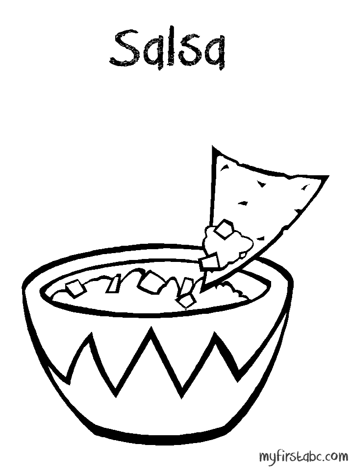 dip coloring pages | Coloring Book Images Of Chips And Dip Coloring Pages
