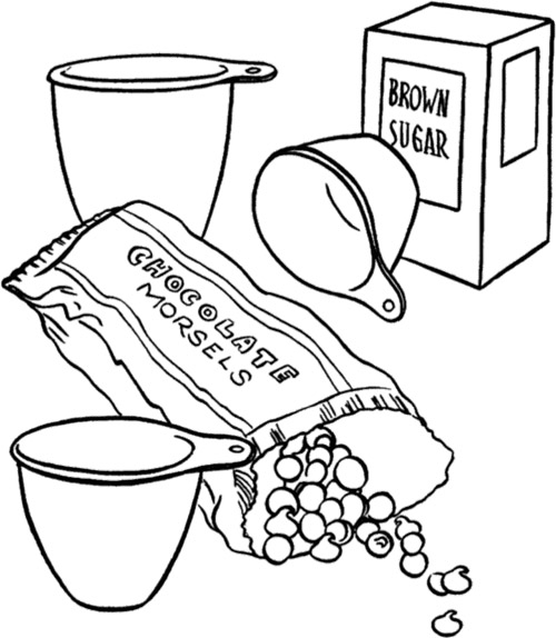 500x574 Chocolate Cake Coloring Page Chocolate Chocolate Cake