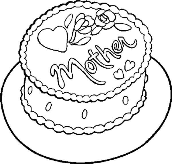 600x570 Chocolate Cake For My Mother Coloring Pages