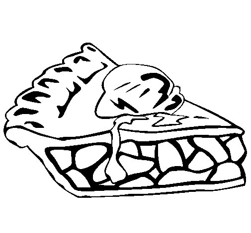 505x470 Chocolate Cake Coloring Page
