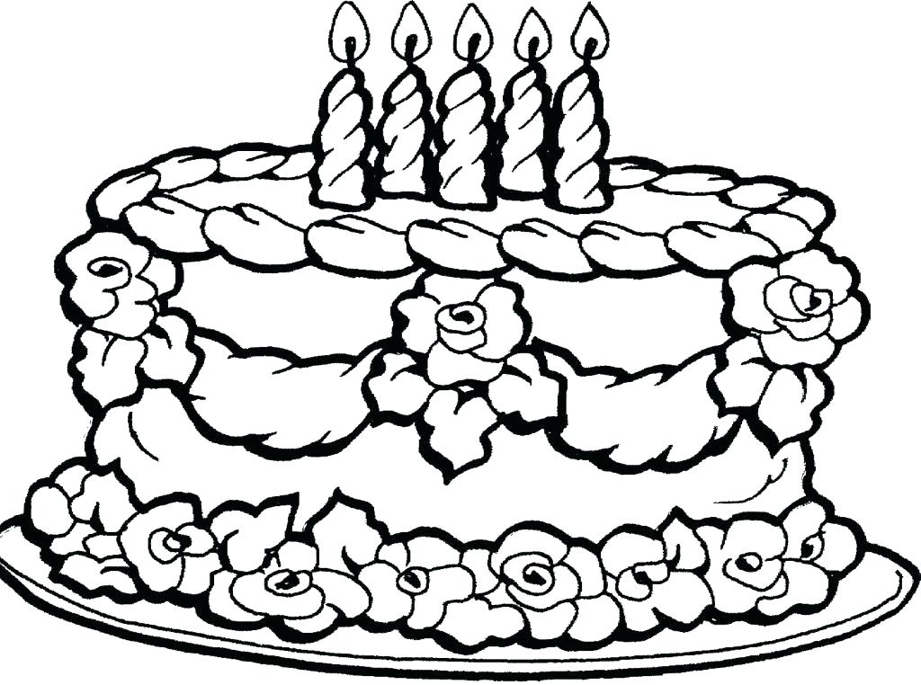 1024x762 Coloring Pages Of Cakes Cupcake Coloring Page Online Delightful