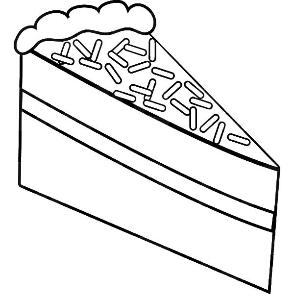 600x612 Cake Slice With Chocolate Topping Coloring Pages Best Place To Color