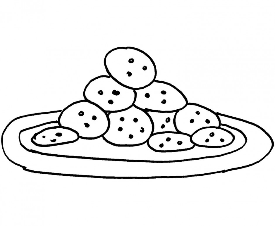 940x773 Cookies Coloring Pages