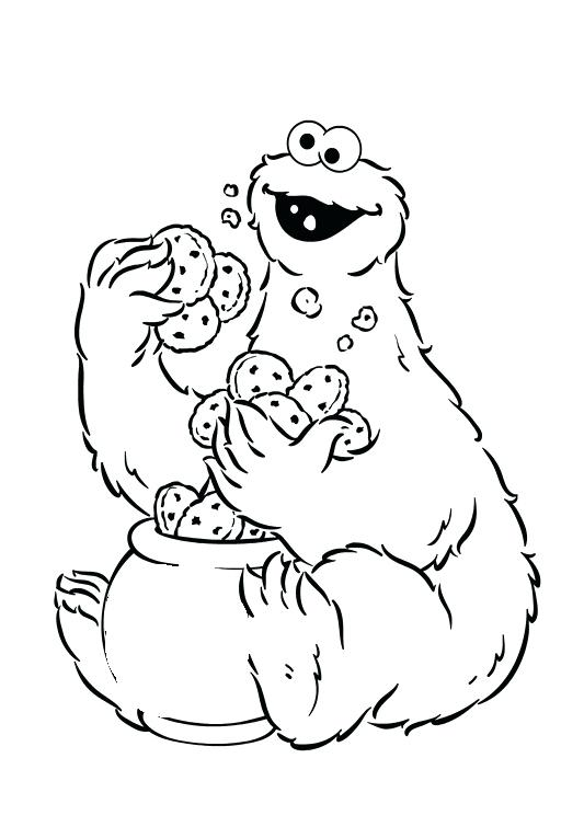 533x755 Cool Cookie Monster Coloring Page Best Of Pages Chocolate Chip