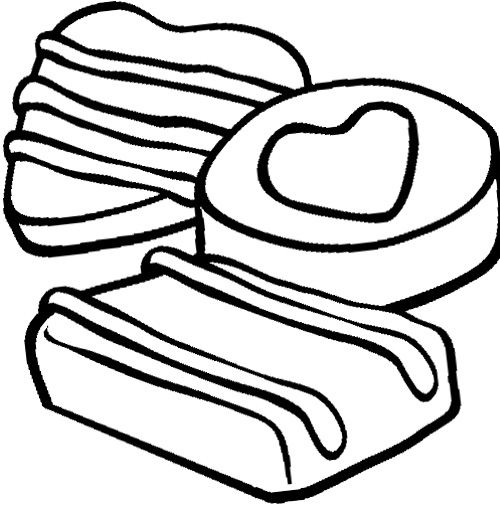 500x506 Chocolate Chip Cookie Coloring Page Cookie