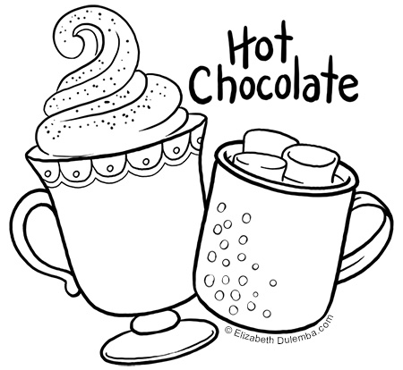 Chocolate drawing at free for personal for Hot chocolate coloring page
