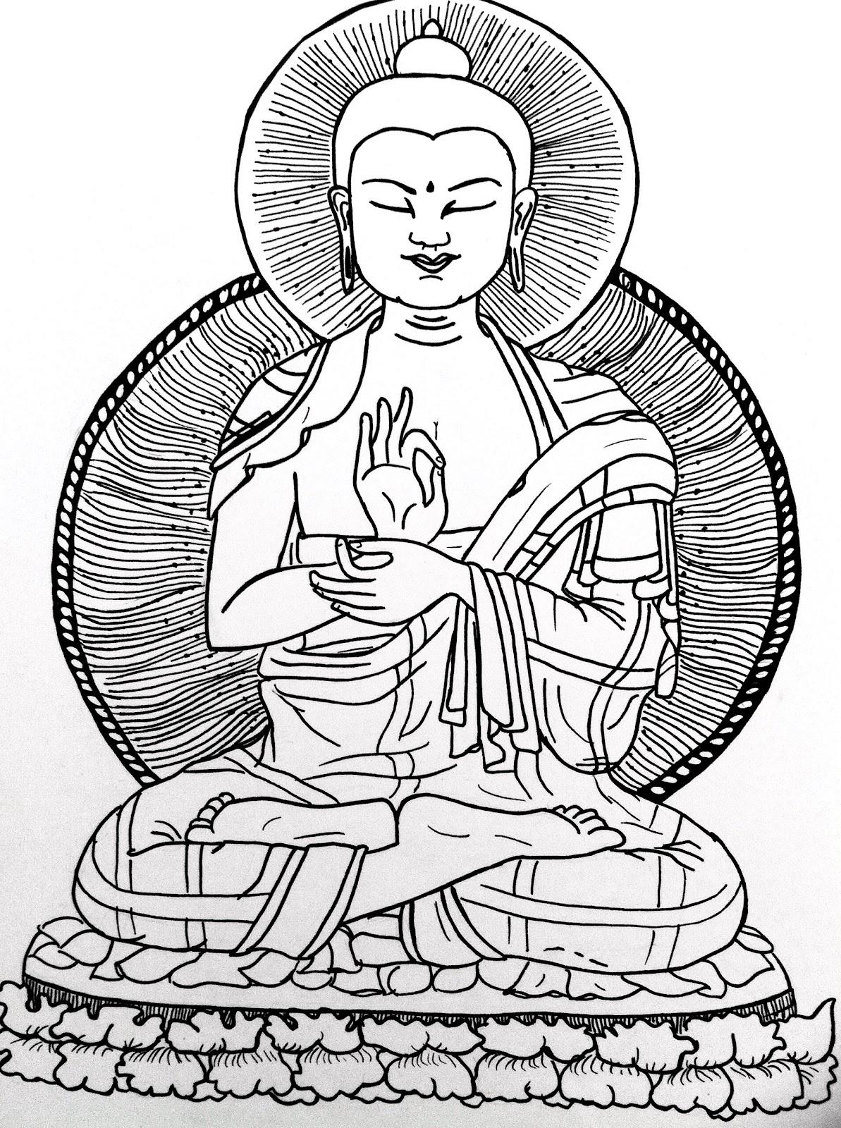 1193x1600 Life Is A Drama Drawing Buddha Drawing