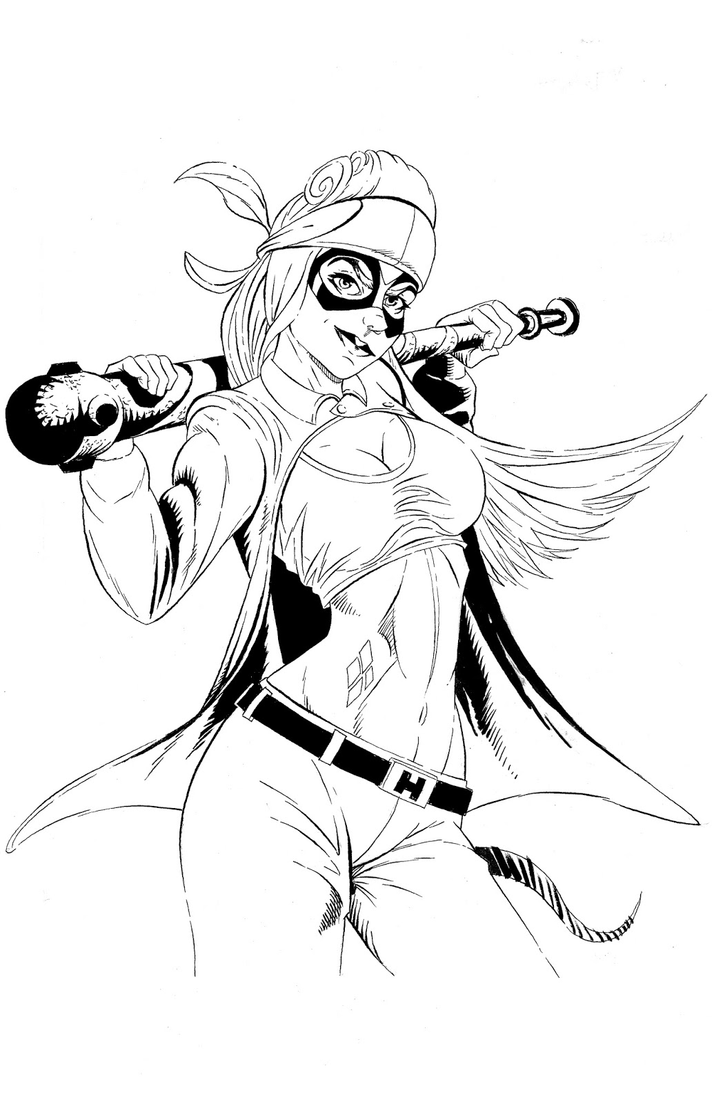 1035x1600 Mike's Sketchbook Chola Harley Quinn