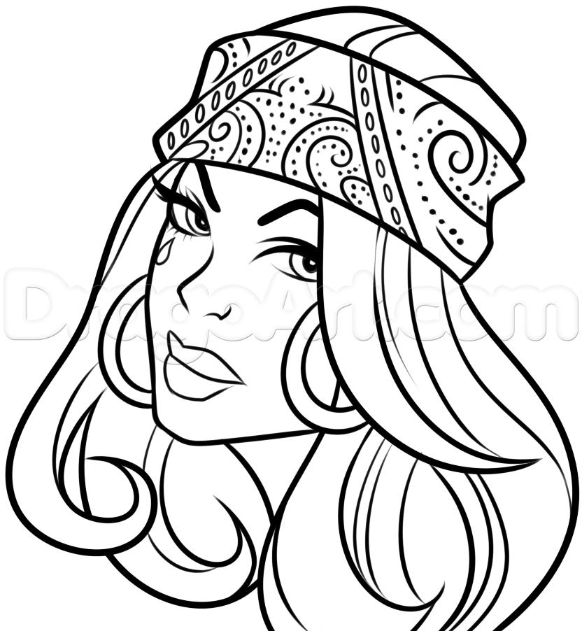 832x902 Chola Tattoo Drawing Step 7 Drawings Drawing Step