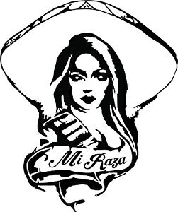 251x300 Chola Mexican Charrita Mi Raza Decal Vinyl For Windows Cars Ebay